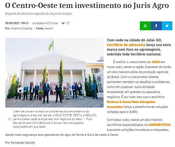 GOIÁS PRESS-ADVOGADOS DO AGRO - BARBOSA SOUZA NETO-JATAI-GOIÁS